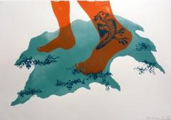 patricia cartereau, dessin, art contemporain, sérigraphie, expo